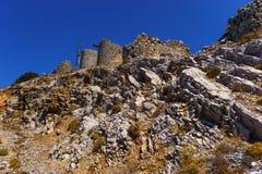 Ruiny encient wiatraczki budujący w 15 wiek zdjęcia royalty free