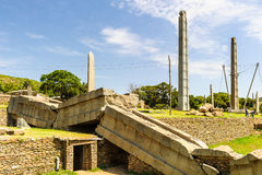Ruiny Etiopia Aksum, (Axum) Obraz Royalty Free
