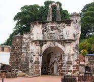 Ruiny Famosa Portugalski forteca przy Malacca Malezja Obrazy Royalty Free