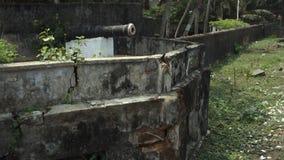 Ruiny fortu Emmanuel Gunnery, Kochi, India zbiory wideo
