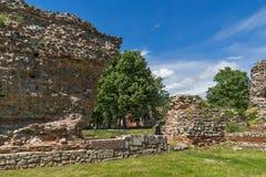 Ruiny fortyfikacje antyczny Romański miasto Diocletianopolis, miasteczko Hisarya, Bułgaria Obrazy Royalty Free