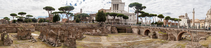 Ruiny Forum w Rzym Zdjęcia Royalty Free