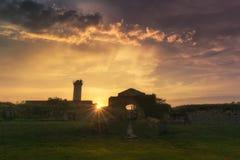 Ruiny Getxo fort Zdjęcia Royalty Free