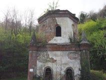 Ruiny gothic kaplica w Chivasso, Włochy Obraz Royalty Free