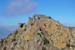 Ruiny grodowy De Verdera Hiszpania Catalonia Fotografia Stock