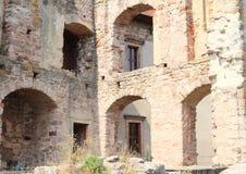 Ruiny grodowy Pecka Zdjęcie Stock