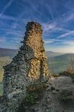 Ruiny grodowy Sulov Zdjęcia Stock