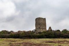 Ruiny Hadleigh kasztel, Essex fotografia royalty free