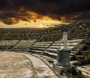 Ruiny i antyczny amphitheatre w antycznym mieście salami wewnątrz Obraz Royalty Free