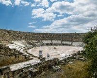Ruiny i antyczny amphitheatre w antycznym mieście salami wewnątrz Zdjęcia Stock