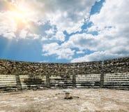 Ruiny i antyczny amphitheatre w antycznym mieście salami wewnątrz Zdjęcia Royalty Free