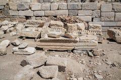 Ruiny i archeologiczny miejsce Knidos, miasto antyczny Grecja fotografia royalty free