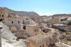 Ruiny i fantazja domy w Cappadocia Zdjęcia Royalty Free