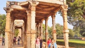 Ruiny i, jeden UNESCO światowego dziedzictwa miejsce, lokalizować południe Delhi zdjęcia stock