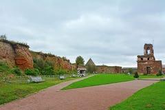 Ruiny I więźniarska skrzynka świątynia boże narodzenia John i prekursor w Fortecznym Oreshek blisko Shlisselburg, Rosja Fotografia Royalty Free