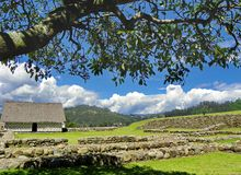 Ruiny Incas Pumapungo, Cuenca, Ekwador obraz stock