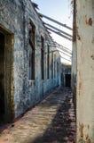 Ruiny jak tylko uroczysty dwór lub stróżówka na wyspie Bubaque w Bijagos archipelagu gwinea Bissau, afryka zachodnia Fotografia Royalty Free
