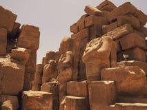 Ruiny Karnak świątyni kompleks Zdjęcia Royalty Free