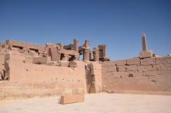 Ruiny Karnak hrama Steny Luxor Egipt Fotografia Royalty Free