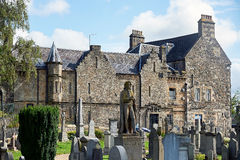 Ruiny kasztel i katedra, plaży i pola golfowego St Andrews, Szkocja zdjęcie stock