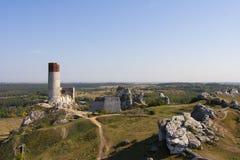 Ruiny kasztel w Olkusz Zdjęcie Royalty Free