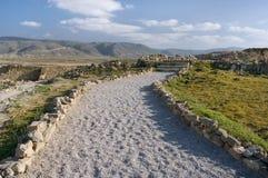 Ruiny Khor Rouri w Oman, obrazy royalty free