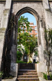 Ruiny kościół Obrazy Royalty Free