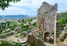 Ruiny kościół St Catherine, Stary bar, Montenegro Fotografia Royalty Free