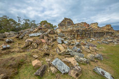 Ruiny kopalnie węgla Tasmania obrazy royalty free