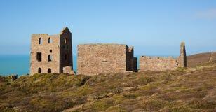 Ruiny Kornwalijska blaszana kopalnia rujnują Cornwall Anglia Zdjęcie Stock
