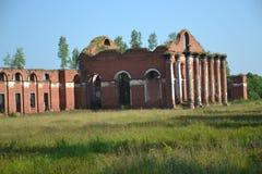 Ruiny, koszarują, dawność, historia, miasteczko, Rosja Zdjęcia Stock