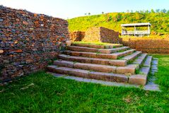 Ruiny królowej Sheba pałac, Axum, Etiopia Obraz Stock