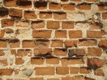 Ruiny Krevsky kędziorek cegła biel odosobniony czerwony Białoruś Fotografia Royalty Free