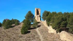 Ruiny na wzgórzu Fotografia Stock