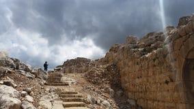 Ruiny nemroda ` s forteca w Izrael Zdjęcia Royalty Free