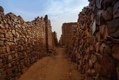 Ruiny Ouadane forteca w Sahara Mauretania obraz stock