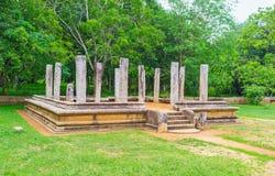 Ruiny pałac w Anuradhapura Obraz Stock
