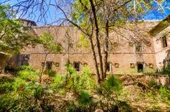 Ruiny pałac w Halvad miasteczku w Gujarat Fotografia Stock