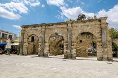 Ruiny pałac Weneccy gubernatorzy w starym miasteczku Fama Zdjęcie Royalty Free