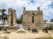 Ruiny pałac Weneccy gubernatorzy w starym miasteczku Fama Fotografia Stock