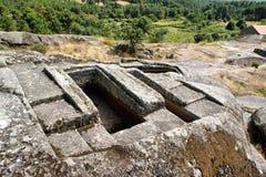Ruiny Panoias, antyczna rzymska świątynia obraz royalty free