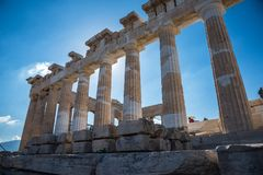 Ruiny Parthenon na akropolu w Ateny, Grecja obrazy royalty free