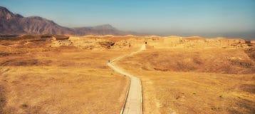 Ruiny Parthian forteca, Nissa, UNESCO światowe dziedzictwo zdjęcia stock