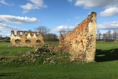 Ruiny Paulava republiki Pavlov republika w Lithuania fotografia stock