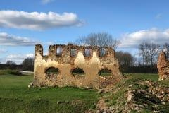 Ruiny Paulava republiki Pavlov republika w Lithuania zdjęcia stock