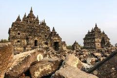 Ruiny Plaosan świątynia w Jawa wyspie, Indonezja Obraz Royalty Free