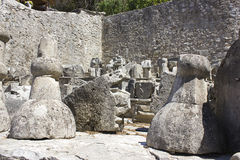 Ruiny Pocitelj, Capljina, Bośnia Obraz Stock