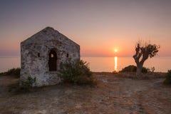 Ruiny podczas wschodu słońca Fotografia Stock
