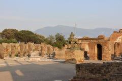 Ruiny Pompeii, piękny miejsce obrazy stock