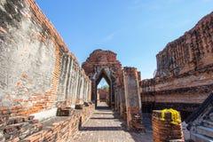 Ruiny Prasat Nakorn Luang, Amphoe Nakorn Luang, Phra Nakorn Si Ayutthaya, Tajlandia Zdjęcie Stock